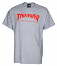 Thrasher T Shirt Skate Mag - Grey-Red